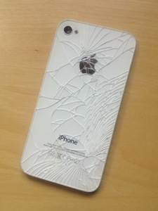 Cracked back iPhone glass