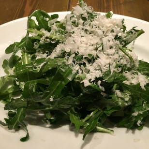 Rucola and parmesan (dinner)