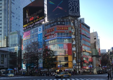 Shibuya Crossing with a diagonal crosswalk